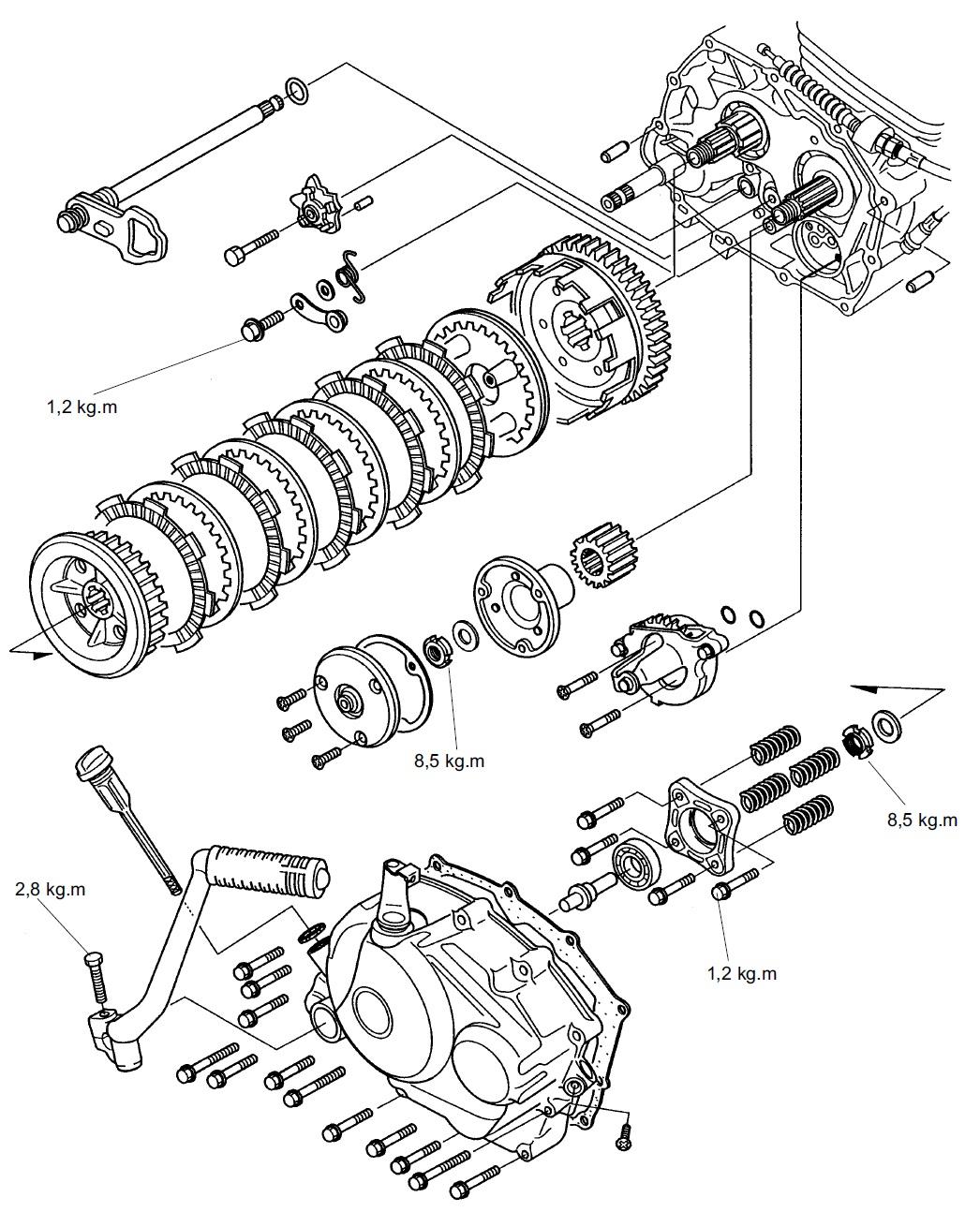 wiring diagram motor honda gl pro