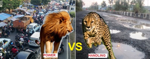 power vs handling on the street
