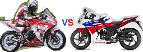 cbr250racing vs std