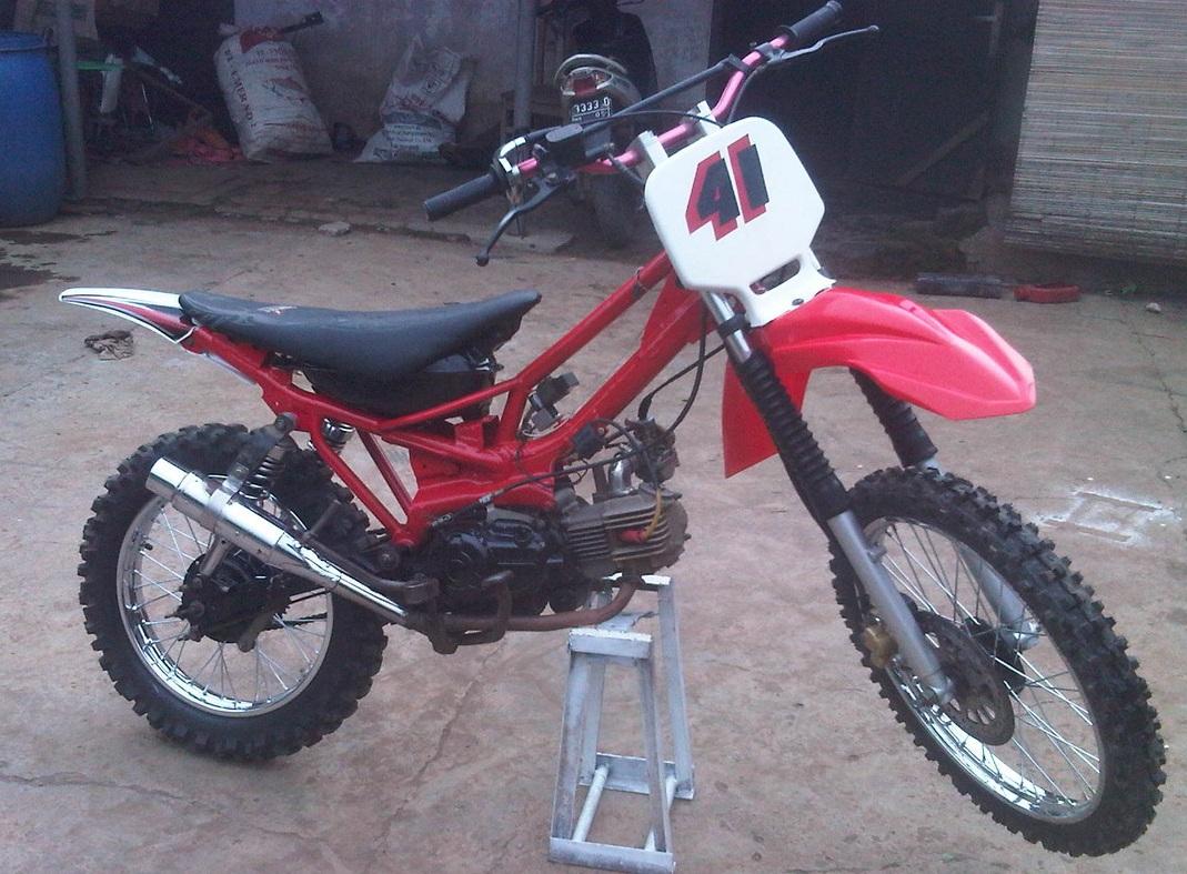 Download Modifikasi Motor Trail Bebek Terkeren Velgy Motor
