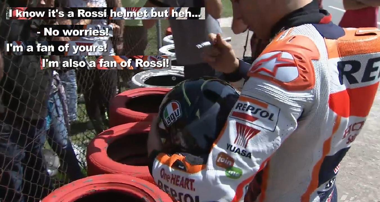 MotoGP Marc Marquez Saya Juga Fans Nya Rossi Motorgoodness