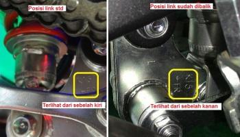 Hasil gambar untuk cara memendekkan shock belakang motor